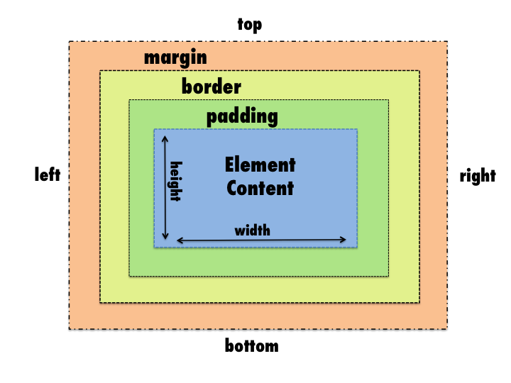 Jenna Espezuas Blog Css Positioning Padding Vs Border Vs Margin